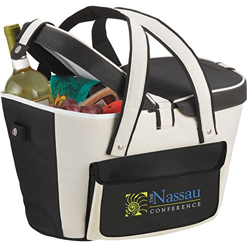 400 Custom Picnic Basket Cooler (Khaki) - Promotional Product / Branded with Your Logo / Bulk