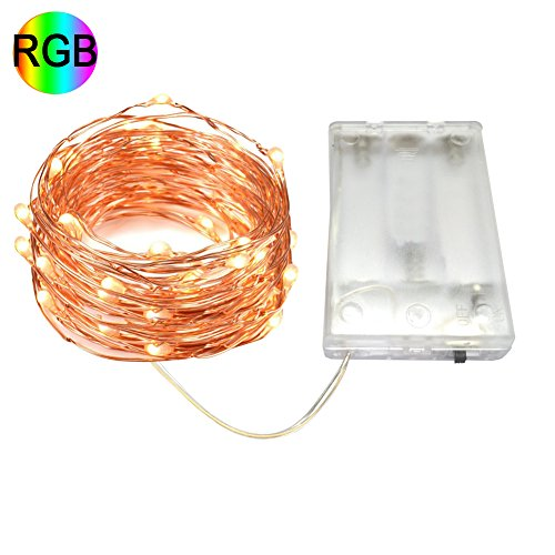 [Autai Battery Powered Christmas Led String Lights Waterproof 5-meter 50 LEDs Copper Wire Lights for Indoor Outdoor Decorative, Party, Seasonal Holiday (RGB Multi] (Non Stop Dancing Costumes)