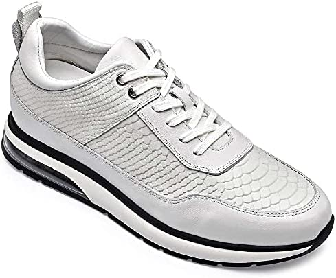 51I34DKesIS. AC GOLDMoral Air Cushion Increasing Shoes for Men White Sneakers That Make You 8CM / 3.15 Inches Taller    Height Increase: 8CM / 3.15 InchesUpper Material: Calfskin LeatherLining Material: Genuine LeatherColor Selection: WhiteSeason: Spring,Summer,Autumn,Winter