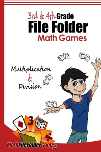 3rd & 4th Grade File Folder Math Games - Multiplication & Division Games