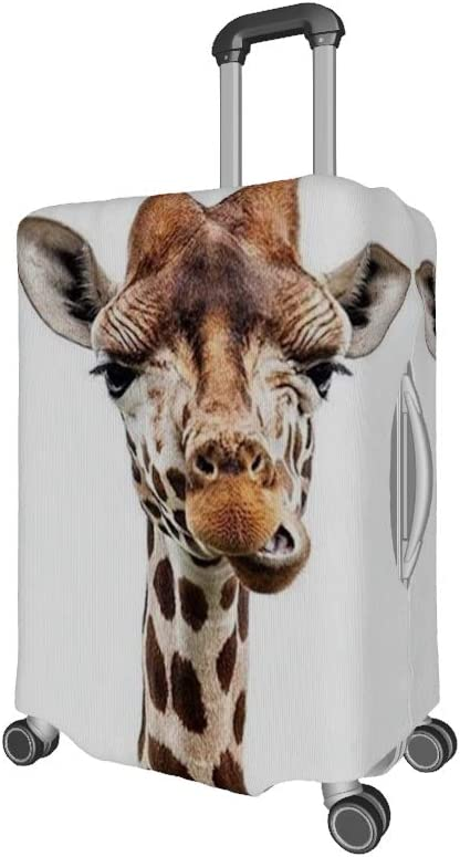 18-21 inch Travel Gear Stretch Suitcase Protector funny giraffe Luggage Cover Durable Travel Suitcase Cover Luggage Case white s