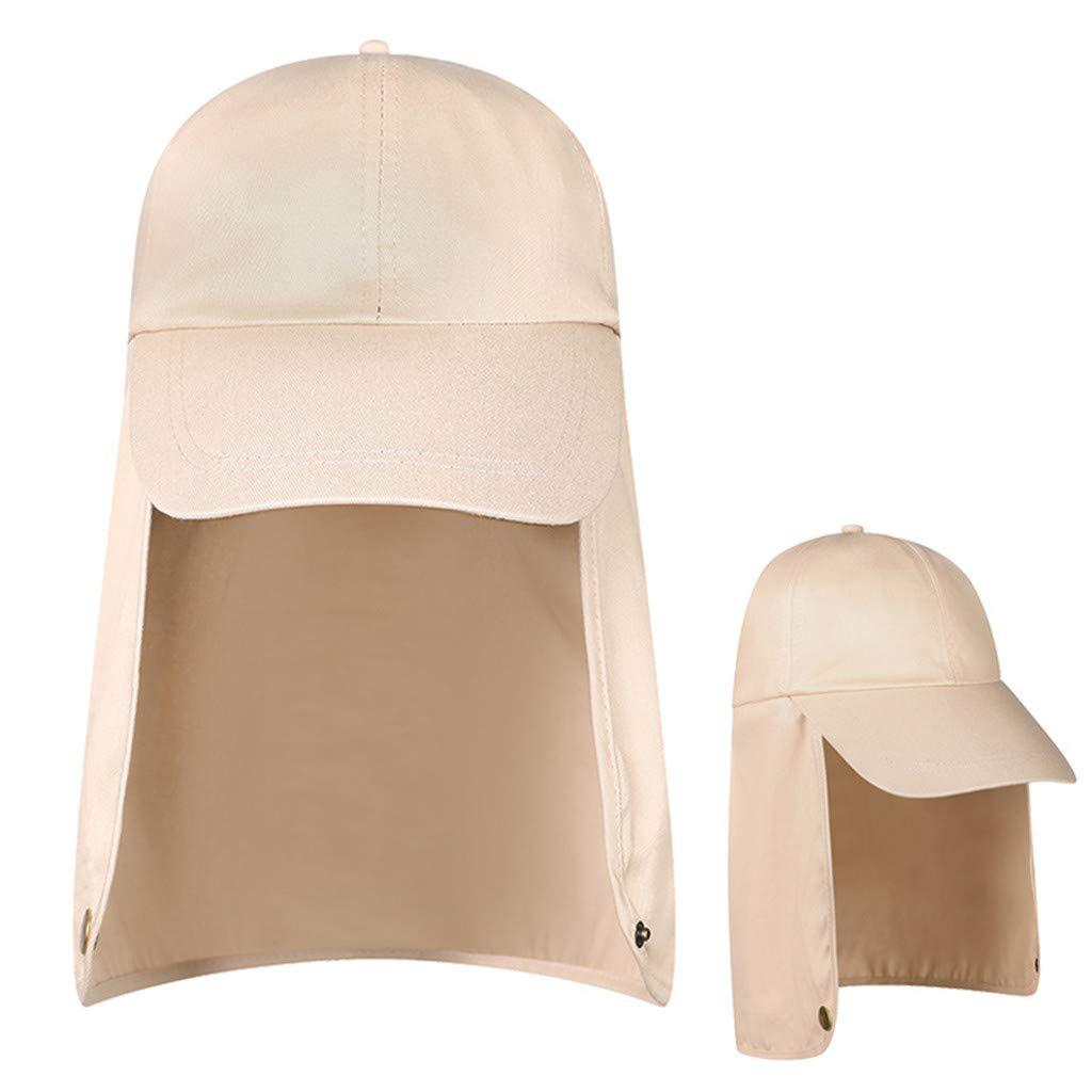 CapsA Fishing Sun Cap UV Protection for Women Men Summer Ear Neck Flap Visor Hats Wide Brim Hiking Cap Flap Casual Hat
