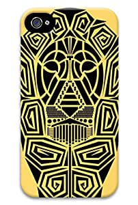 Simply Case Designs Toten Lion Face Design PC Material Hard Case for iphone 4/4s