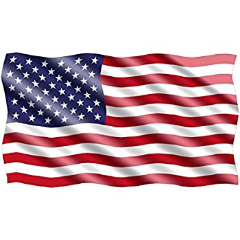 10x6 large waving american usa flag car truck window decal sticker patriotic auto bumper sticker vinyl for car truck rv suv boat support us military