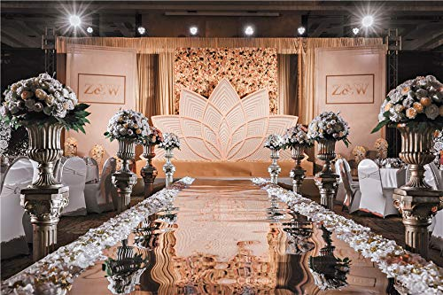 - 40 Inch Wide x33 Feet Long Wedding Bright Aisle Runner Mirror Rugs Double Sided Silver Carpet for Indoor/Outdoor Wedding Graduation Party Birthday