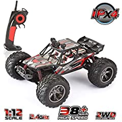VATOS 1/12 Scale Hobby Grade Monster RC Truck - 4 independent suspension system, water proof, shockproof and powerful motor makes this off-road truck funny & exciting in competition. - Realistic-looking rubber tires provide a solid perfor...