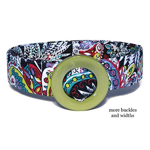 - Women's Fabric Belt/Multi Color Fabric Belt/Womens Ribbon Belt/Preppy Cloth Belt - Jewel Paisley Wide Belt Skinny Belt/Plus Sized Belt