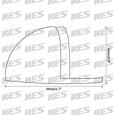 KES HDS201 Solid Stainless Steel Floor Door Stopper Stops Screw Mount, Brushed