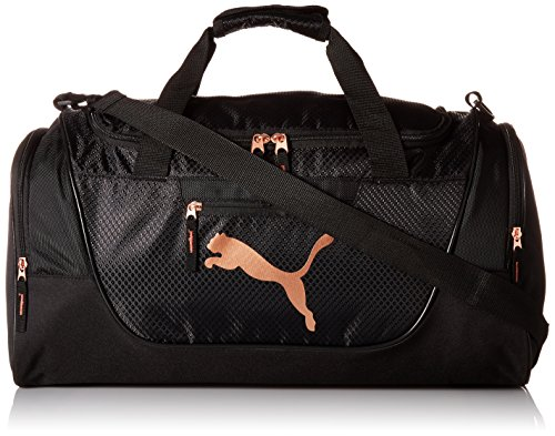 PUMA Women's Evercat Candidate Duffel, OS, black/gold