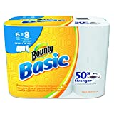 ": Bounty 92981 Basic Select-A-Size Paper Towels, 5 9/10"" x 11"", 1-Ply, White (Pack of 6)"