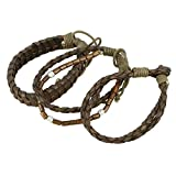 Indian Leather Rope Brown Bracelet for Men - Layered Mixed Media Bracelet Handmade Fashion Jewelry