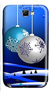 Samsung Note 2 Case Christmas decoration balls 3D Custom Samsung Note 2 Case Cover