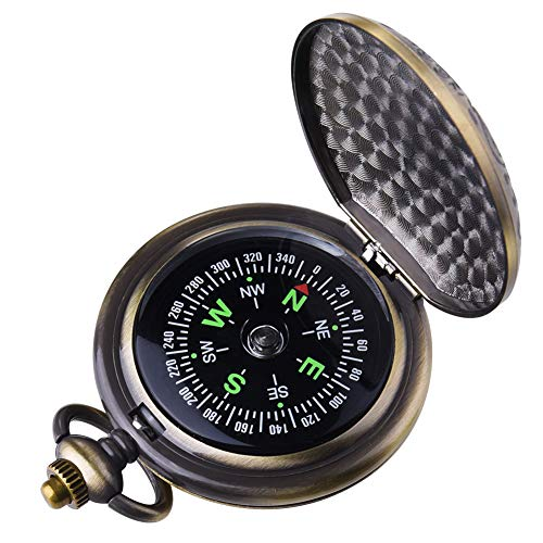- Kakuru Vintage Pocket Compass for Kids Classic Portable Compass Accurate Waterproof for Hiking Outdoor Camping Motoring Boating Backpacking Survival Emergency (Copper)
