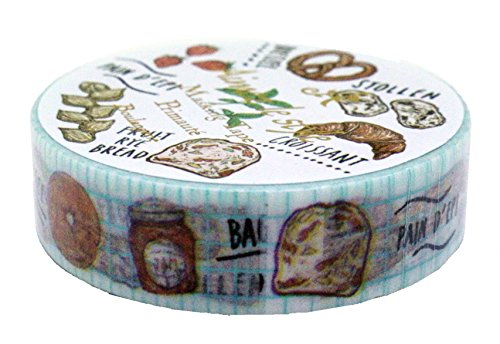 (Aimez Le Style Primaute Collection French Boulangerie Washi Masking Deco Tape Standard.)