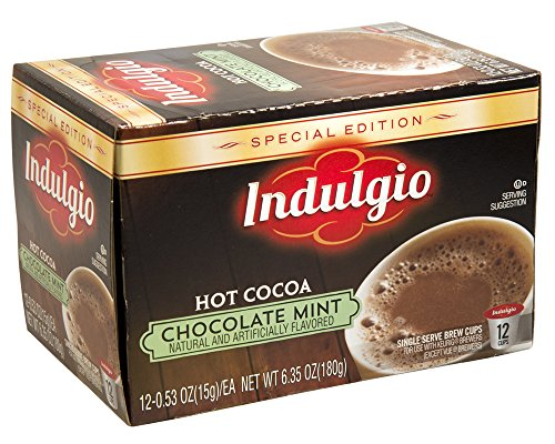 Indulgio Mint Chocolate Cocoa Special Edition Sin for Keurig K-Cup Brewers, 12 Count (Pack of 6) (Compatible with 2.0 Keurig (Special Edition Brewer)