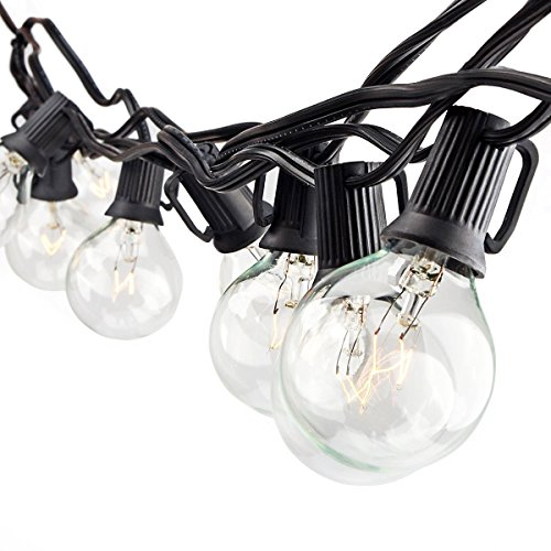 Zitrades G40 Globe Patio Lights UL Listed Indoor Outdoor String Lights Vintage Edison Bulbs 25ct 24ft for Backyard Vintage Christmas Party Decorative