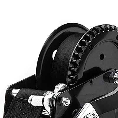 TR Industrial 1200 lb. Trailer Winch with Pre-Installed 20 ft. Strap and Hook: Home Improvement