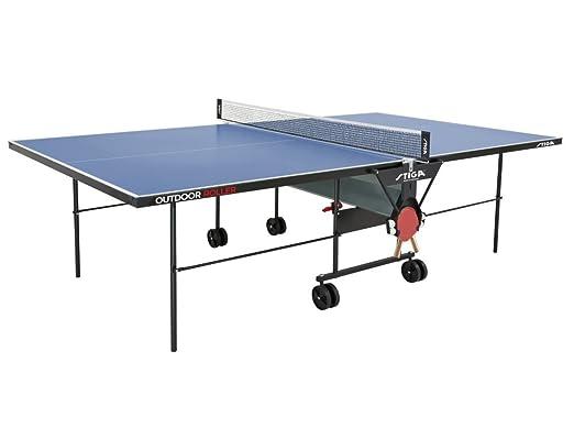 Stiga - Mesa de ping-pong, con ruedas, ideal para exteriores ...