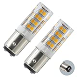 XRZT LED BA15D 120V Double Contact Bayonet Base, Dimmable 4.5W Warm White (50W Halogen Bulbs Equivalent), T3/T4, Sewing Machine Lamp(2-pack)