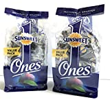 Sunsweet Individual Pitted Prunes Value Pack - 2 Packs (12 oz each) of Individually Wrapped Dried Prunes - Sweet, Delicious and a GREAT VALUE!