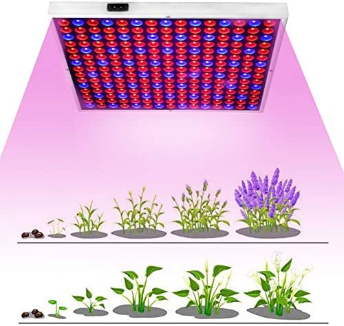 45W LED Grow Light for Indoor Plants, Increasing the Yield by 20-50 ,Full Spectrum with Red Blue Spectrum, 225 LED Plant Growth Light for Clones, Seedlings, Vegetables