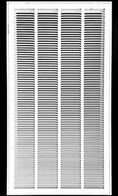 """20"""" X 36 Steel Return Air Filter Grille for 1"""" Filter - Removable Face/Door - HVAC DUCT COVER - Flat Stamped Face - White [Outer Dimensions: 22.75""""w X 38.75""""h]"""