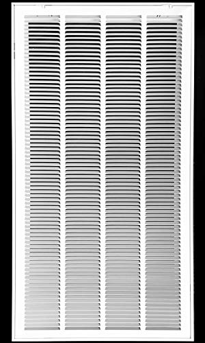 20 X 36 Steel Return Air Filter Grille for 1 Filter - Removable Face/Door - HVAC Duct Cover - Flat Stamped Face - White [Outer Dimensions: 22.5 X 37.75]