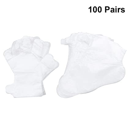 Frcolor Bolsas de baño de parafina desechables de plástico para baño de cera de parafina de 200 piezas para pies de mano
