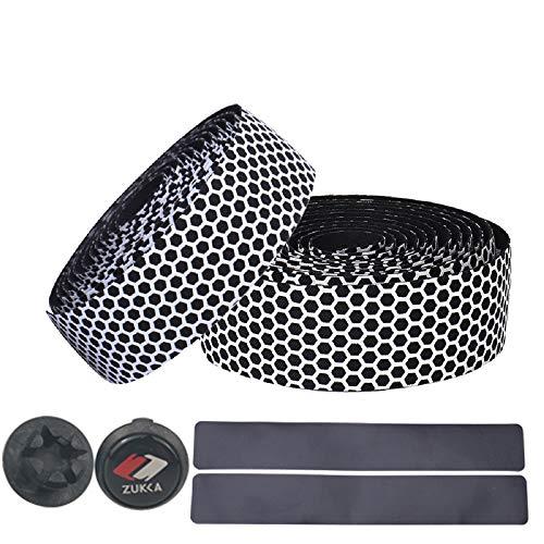 ZUKKA Bike Handlebar Tape Superior Grip Bicycle Bar Tapes with Bar Plugs 2PCS Per Set ()