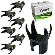 Yuauy 6 x 4-Claw Golf Ball Retriever Claw Put On Putter Grip Grabber Pick Up Back Saver