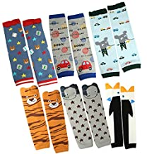 KF Baby Boys Toddler Cozy Soft Leg Warmers, Set of 6 Pairs