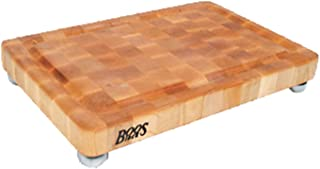 product image for BoosBlock Maple Cutting Board with Stainless Steel Bun Feet