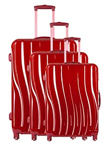 Torrente Set 3 Trolley Messa Rojo