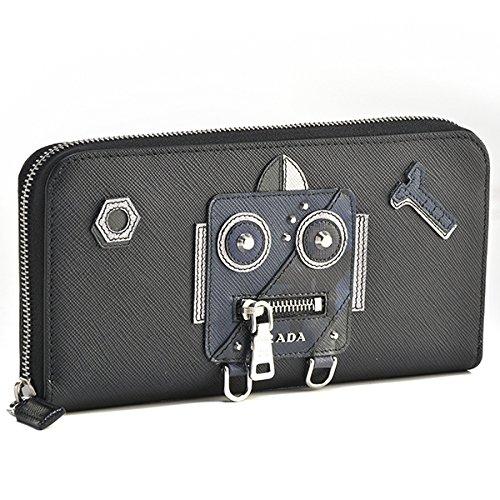 PRADA(プラダ) 財布 メンズ SAF.ROBOT ラウンドファスナー長財布 ブラック 2ML317-2EDL-002 [並行輸入品] B07CK3KK3S