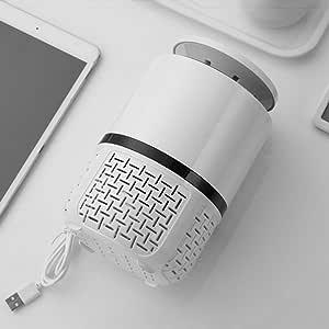 Mopoq Outdoor Portable Mosquito Killer UV Mosquito Lamp Indoor USB Mosquito Light Office Mosquito Repellent Lamp Radiation-free LED Mosquito Trap (Color : White)