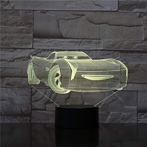 Cool Car Touch Control Remoto luz Nocturna estereo Panel de acrilico decoracion de Mesa de Comedor Cambio de Color lampara de Dormito