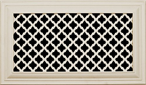 Decorative Vent Cover for a 12x6 Opening. Resin Paint Grade Grille Can Be Used As Return, Supply, Foundation Vent, Register. Ribbon Design. 14x8 Overall Size