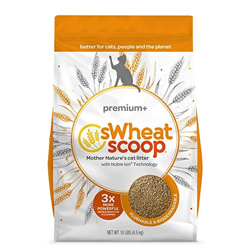 Image of sWheat Scoop Premium+ Cat Litter Clumps, 10 lb