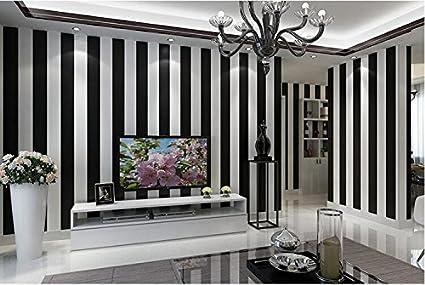Pareti A Strisce Bianco E Nero : Yosot moderno e semplice in bianco e nero carta da parati a