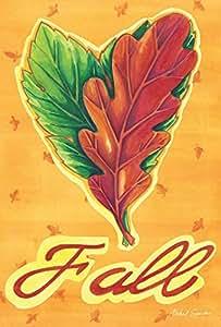 """Toland Home Garden 1110445 """"Heart Leaves Autumn/Fall"""" Decorative Garden Flag, 12.5"""" X 18"""""""