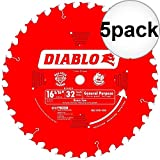 Diablo D1632 X 16-5/16 x 32 Tooth Beam Cutting Blade 5-Pack