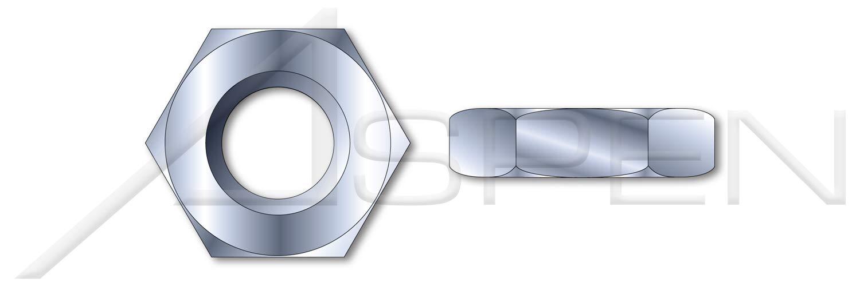 5//8-11 Steel Thin Hex Jam Nuts 1000 pcs Zinc Plated