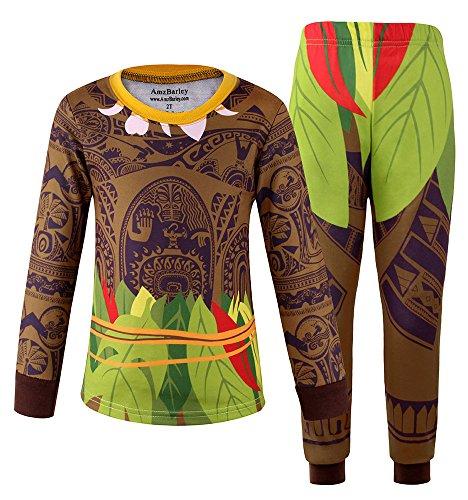 AmzBarley Maui Costume for Little Boys Pajamas Sets