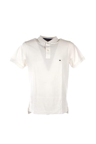 Tommy Hilfiger MW0MW09741 Slim Polo Polo Hombre White M: Amazon.es ...