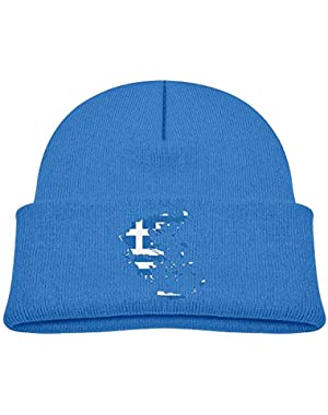 Funny Greece Map with Greek Flag Printed Baby Girl Boys Winter Hat Beanie
