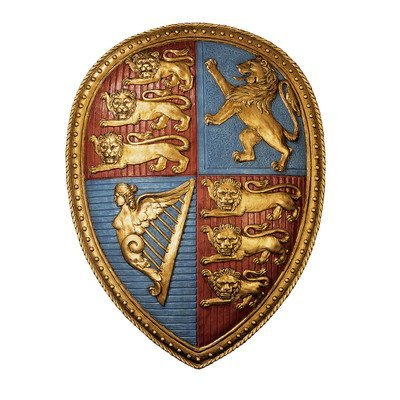 (Design Toscano Queen Victoria's Royal Coat of Arms Shield Sculpture)