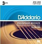 D'Addario EJ16-3D Phosphor Bronze Aco...