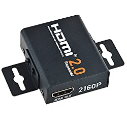 Flashmen 4K2K 1080P 3D HDMI 2.0 Repeater Signal Amplifier Booster Adapter Extender Up to 60m/200ft Transmission Distance 18Gbps Bandwidth - Metal Case