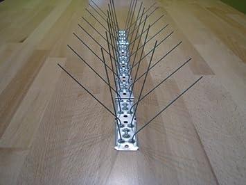 Taubenspike Taubenabwehr EU-Produkt 2-reihig auf 50 cm Edelstahlleiste