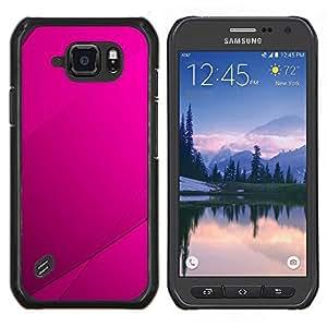EJOOY---Cubierta de la caja de protección para la piel dura ** Samsung Galaxy S6Active Active G890A ** --Purple Azulejos